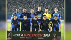 Indosport - Tim skuat Arema FC.