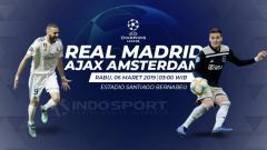 Indosport - Prediksi Real Madrid vs Ajax