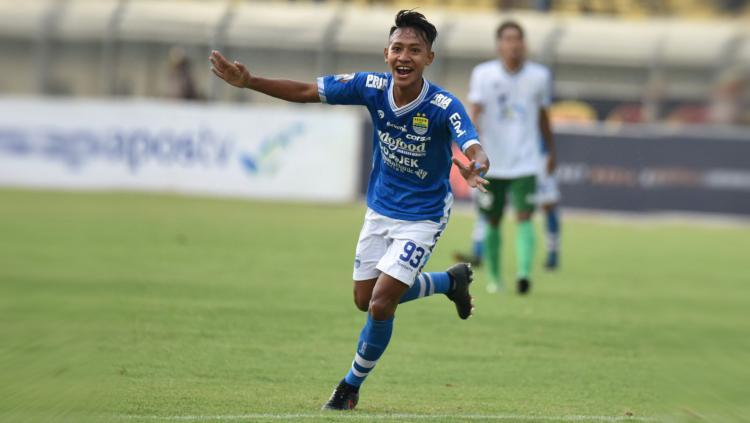 Pemain Persib Bandung, Beckham Putra Nugraha. Copyright: PERSIB.co.id/M.Jatnika Sadili