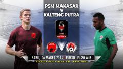 Indosport - Pertandingan PSM Makasar vs Kalteng Putra