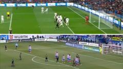 Indosport - Aksi tendangan bebas Schone serupa Dengan Lionel Messi
