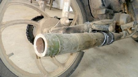 Motor knalpot bambu. - INDOSPORT