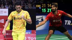 Indosport - Jonatan Christie dan Kidambi Srikath.