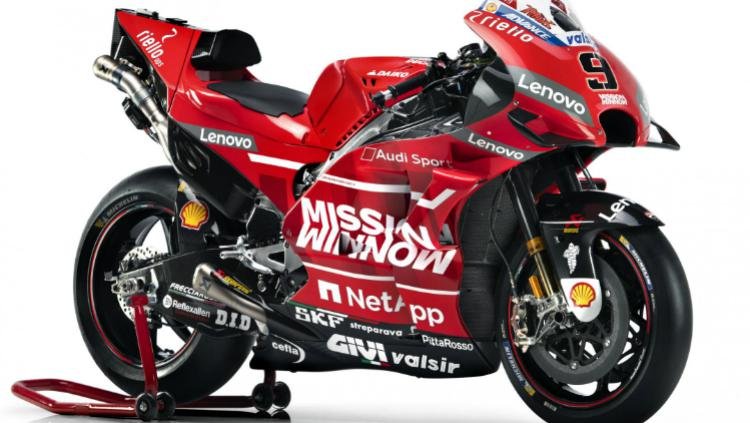 Tampilan baru Ducati Team untuk MotoGP 2019 dari sisi samping. Copyright: motogp.com