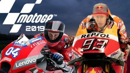 Pembalap Ducati Team, Andrea Dovizioso dan pembalap Repsol Honda Team, Marc Marques siap duel di MotoGP 2019. - INDOSPORT