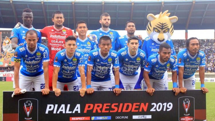 Starting eleven Persib Bandung menghadapi Persebaya. Copyright: Arif Rahman/Indosport.com