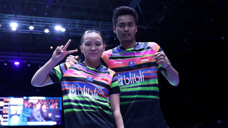Tontowi Ahmad/Winny Oktavina Kandow usai pastikan melaju ke perempatfinal All England 2019, Kamis (07/03/19). Copyright: badmintonindonesia.org