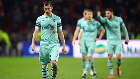 Mkhitaryan setelah Arsenal dikalahkan oleh Rennes di leg pertama babak 16 besar Liga Europa. - INDOSPORT