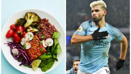 Sergio Aguero merupakan salah satu dari sederet pesepak bola top dunia yang menerapkan pola makan Vegan. - INDOSPORT