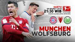 Indosport - Pertandingan Bayern Munchen vs Wolfsburg.