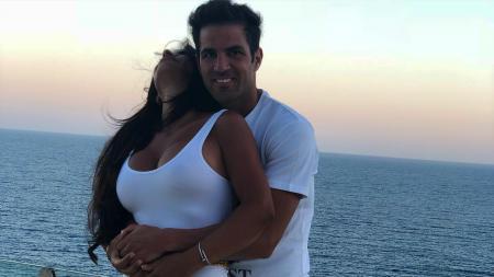 Daiella Semaan dan Cesc Fabregas - INDOSPORT