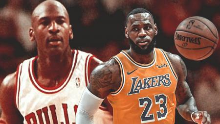 Michael Jordan dan LeBron James. - INDOSPORT