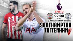 Indosport - Pertandingan Southampton vs Tottenham.