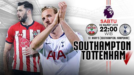 Pertandingan Southampton vs Tottenham. - INDOSPORT