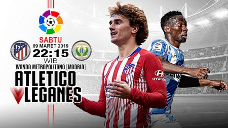 Pertandingan Atletico Madrid vs Leganes. - INDOSPORT