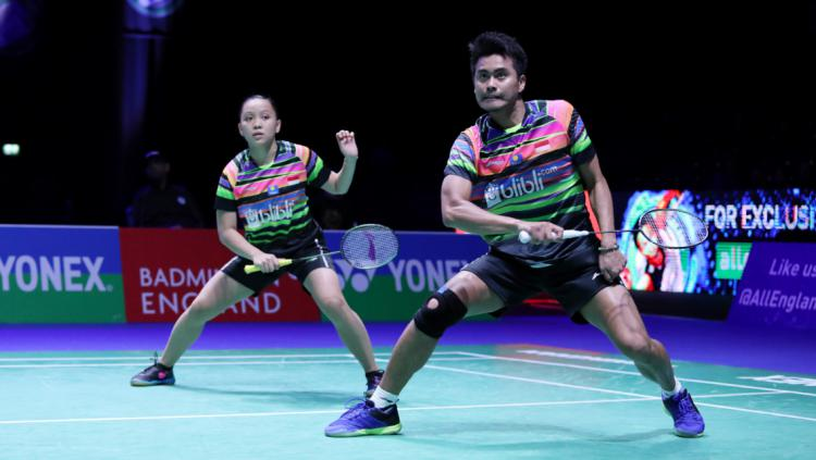 Pebulutangkis ganda campuran Indonesia, Winny Oktavina Kandow dan Tontowi Ahmad. Copyright: Humas PBSI
