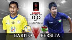 Indosport - Pertandingan Barito Putera vs Persita Tangerang.