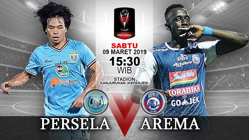 Pertandingan Persela Lamongan vs Arema FC. Copyright: Indosport.com
