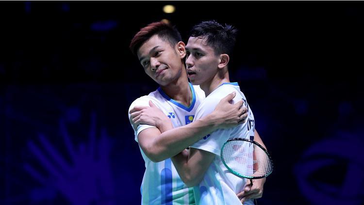 Fajar/Rian pastikan tiket ke semifinal All England 2019 Copyright: badmintonindonesia.org