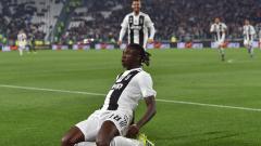 Indosport - Moise Kean merayakan gol yang ia cetak ke gawang Udinese.