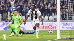 Indosport - Moise Kean mencetak gol ke gawang Udinese.