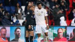 Indosport - Striker muda PSG, Kylian Mbappe dan Marcus Rashford, penyerang muda Manchester United.