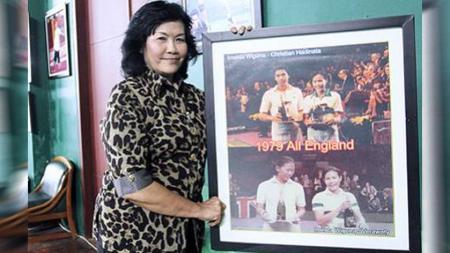 Imelda Wigoena, legenda badminton Indonesia ini sempat mendominasi gelaran All England dengan juara di dua nomor sekaligus. - INDOSPORT