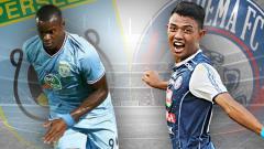 Indosport - Mengulik kekuatang lini serang Persela vs Arema, siapa paling berbahaya?