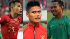 Indosport - Hansamu Yama. Fachruddin Aryanto dan Ferinando Pahabol saat berseragam Timnas Indonesia.