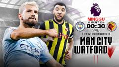 Indosport - Pertandingan Manchester City vs Watford.