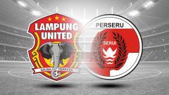 Indosport - Lampung United vs Perseru Serui