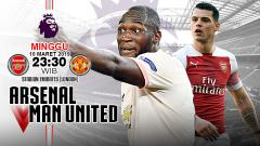 Indosport - Pertandingan Arsenal vs Manchester United.