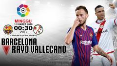 Indosport - Pertandingan Barcelona vs Rayo Vallecano