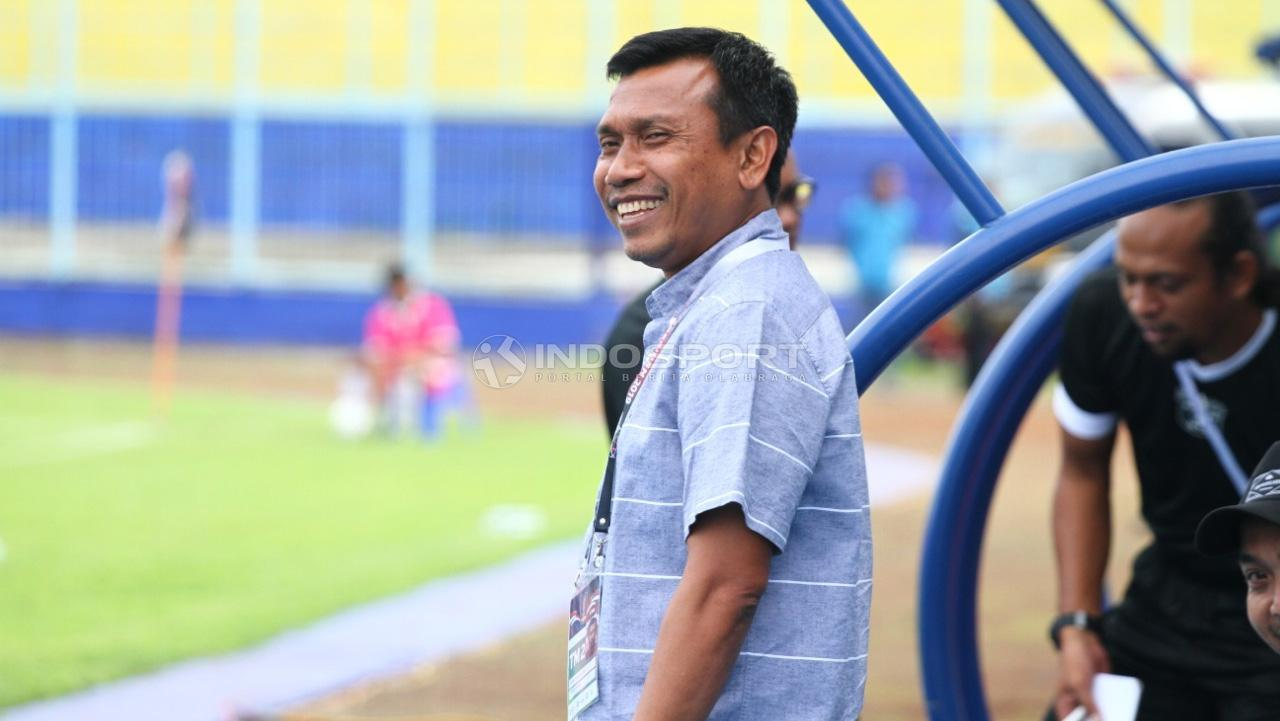 Pelatih Persita, Widodo Cahyono Putro. Copyright: Ian Setiawan/Indosport.com