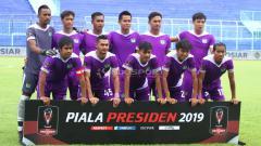 Indosport - Skuat Persita Tangerang di Piala Presiden 2019.