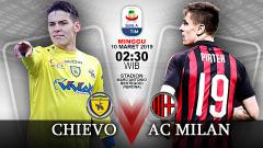 Indosport - Pertandingan Chievo vs AC Milan.