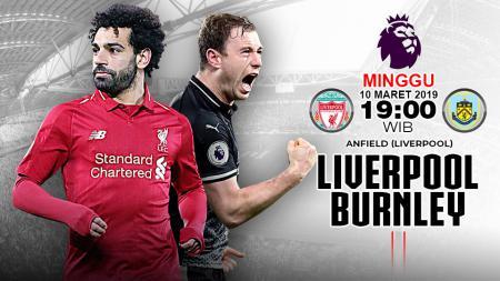 Pertandingan Liverpool vs Burnley. - INDOSPORT