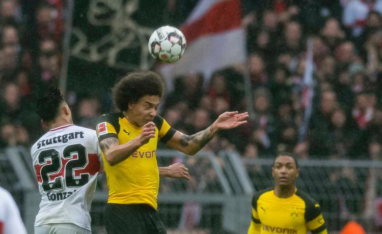 Pemain Borussia Dortmund vs Stuttgart. Copyright: Twitter.com/@BVB