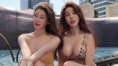 Indosport - DJ Siena Park Si-hyun (kanan) bersama seorang temannya