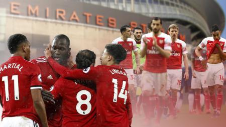 Tiga alasan Arsenal bisa permalukan Manchester United di Emirates Stadium. - INDOSPORT