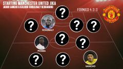 Indosport - Starting Manchester United Jika Jadon Sancho & Kalidou Koulibaly Bergabung.