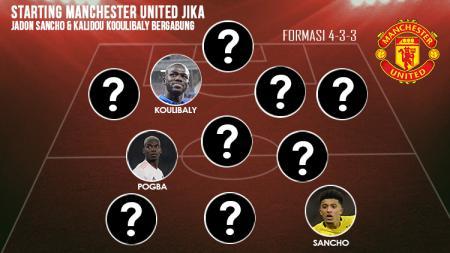 Starting Manchester United Jika Jadon Sancho & Kalidou Koulibaly Bergabung. - INDOSPORT