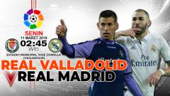Indosport - Prediksi pertandingan Real Valladolid vs Real Madrid