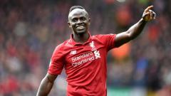 Indosport - Sadio Mane Selebrasi di Laga Liverpool vs Burnley