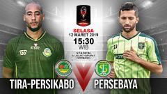 Indosport - Pertandingan Tira Persikabo vs Persebaya.