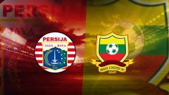 Indosport - Persija Jakarta vs Shan United.