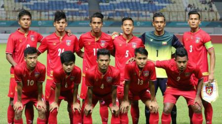 Skuat Timnas Myanmar di Piala AFF 2018. - INDOSPORT