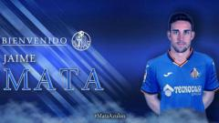 Indosport - Penyerang Getafe yang sangat berpengaruh pada penampilan apik klub sejauh musim ini, Jaime Mata.