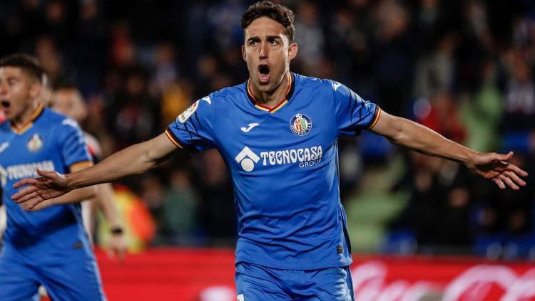 Jaime Mata merayakan golnya yang membuat kedudukan menjadi  1-1 pada menit ke-50 Copyright: Getty image