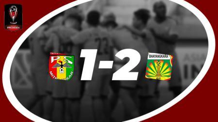 Hasil pertandingan Mitra Kukar vs Bhayangkara FC - INDOSPORT